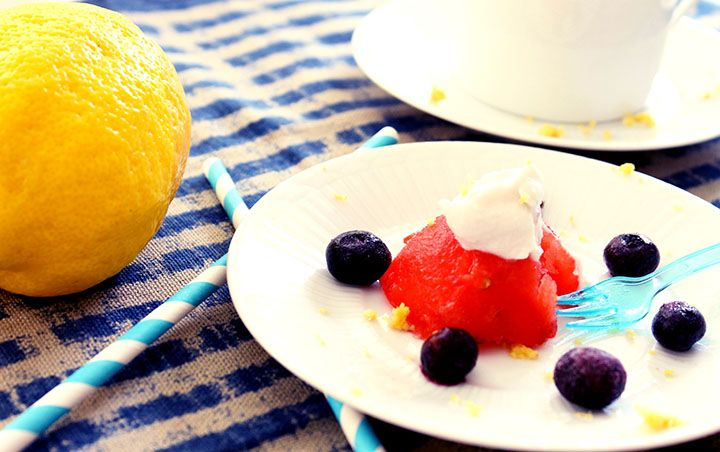 The Red, White & Blue Topped with a Lemon-Honey Non-Dairy Whip Cream {free recipe from my new desserts ebook} #glutenfree #grainfree #dairyfree via www.agutsygirl.com