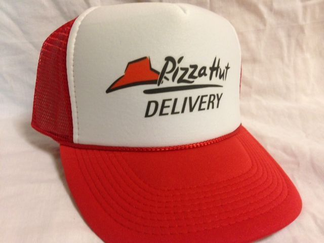 Pizza Delivery Costume Hat  Easy & Quick Halloween low cost Adjustable rush ship in Clothing, Shoes & Accessories, Costumes, Reenactment, Theater, Costumes   eBay