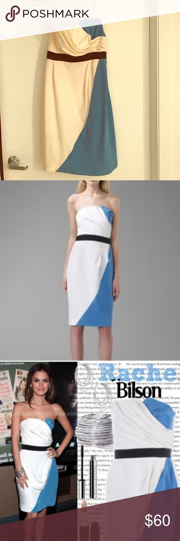 Abaete strapless color block dress! Strapless colorblock dress, as seen on Rachel Wilson! Worn once! Abaete Dresses Strapless