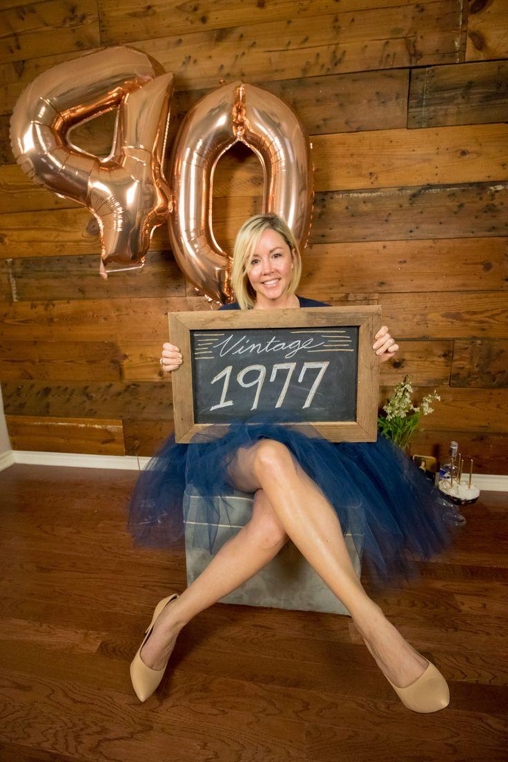 40th birthday photo forty vintage smash cake tutu