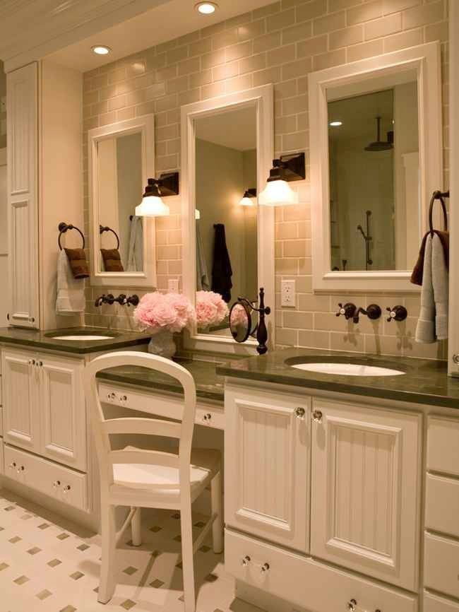 Best 25 bathroom makeup vanities ideas on pinterest small makeup vanities mirrored vanity - Master bath vanity design ideas ...