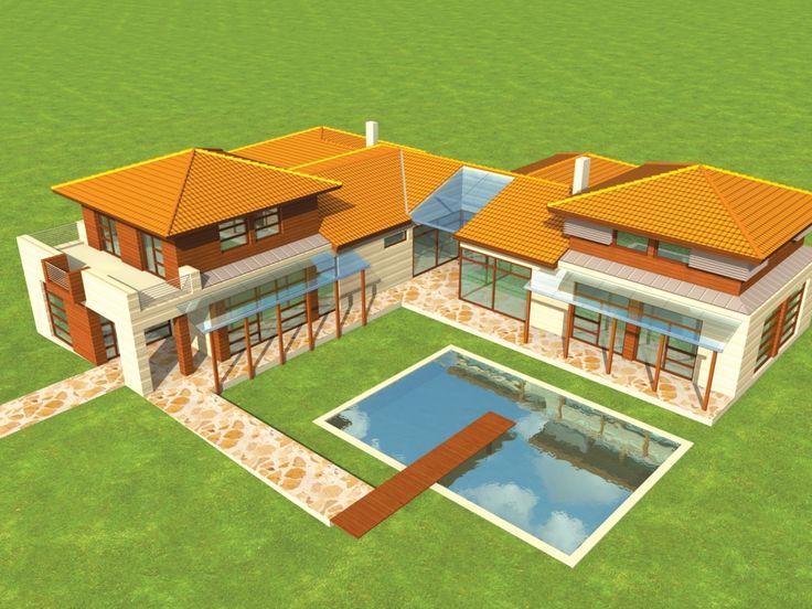 Ze względu na wielkość i układ funkcjonalny dom ten może pełnić funkcję podmiejskiej rezydencji.