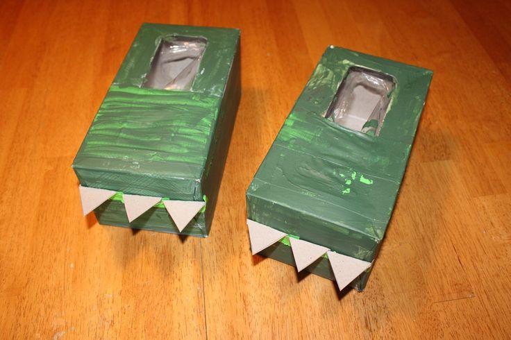 Cardboard Dinosaur Costume Feet to Make: for my part time dinosaur. ;) @Jackie Godbold Godbold Godbold