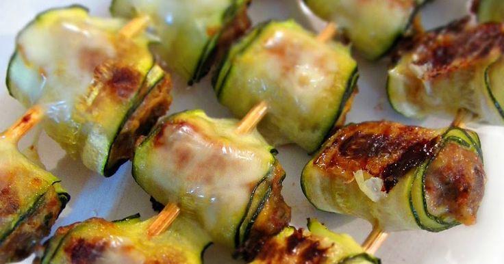 Briciole di Sapori: Saltimbocca mignon di zucchine ripiene di carne. Contenti i grandi e anche i bambini