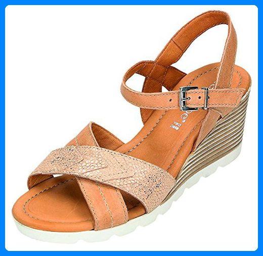 Relaxshoe Damen Sandalen-Pantolette D.Sandalette in natur/komb., Größe 41.0, - Clogs für frauen (*Partner-Link)