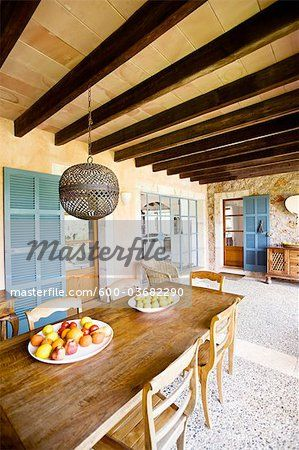 Stock photo of Interior of House, Majorca, Spain; Premium Royalty-Free, 600-03682290 © Norbert Schäfer / Masterfile. All rights reserved.