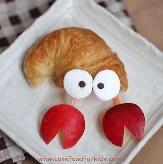 Hermit Crab Crescent Roll · Edible Crafts | CraftGossip.com