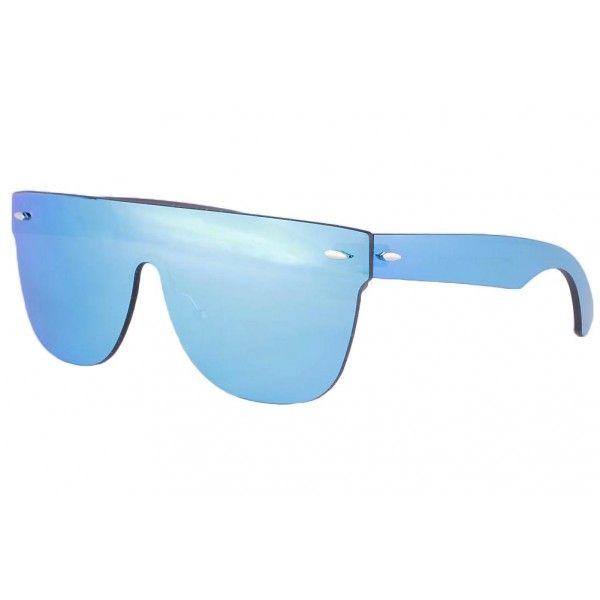 vert miroir glace Homme Femme Lunettes de soleil bicolore Cadre Lunettes de soleil bleu