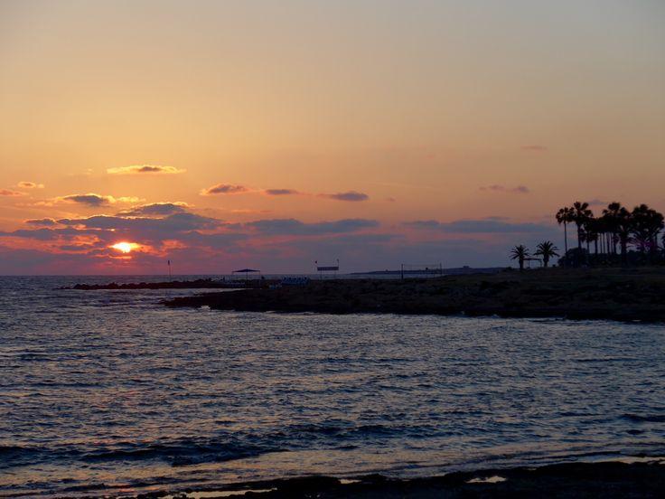 Cyprus 2014, beautiful sunset.