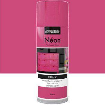Peinture aérosol Néon fluorescent RUSTOLEUM, rose, 0.4 l   Leroy Merlin