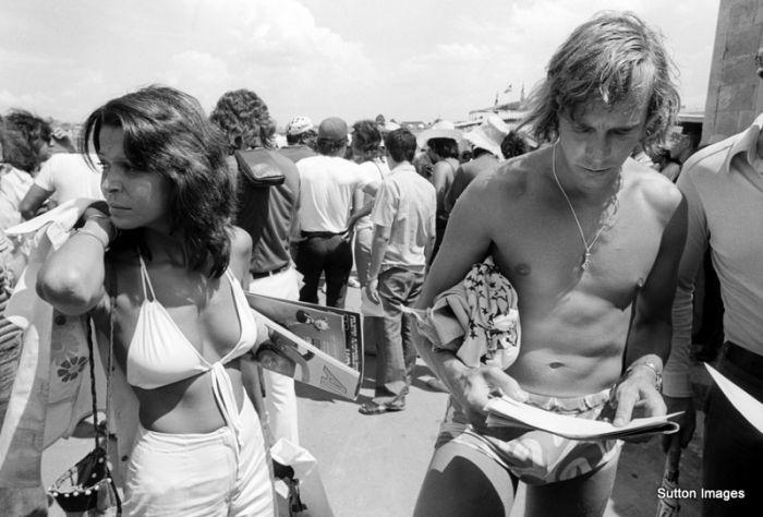 James Hunt at the 1974 Brazilian Grand Prix weekend.