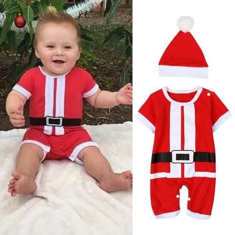 a5514d17a3b6 2018 New Baby Romper Newborn Boy Girls Christmas Santa Claus Bebe ...