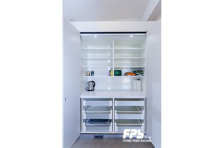Hettich drawers feature in the FPB New Plymouth show home.