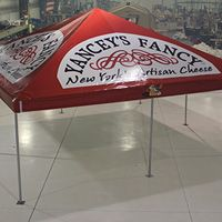 Yancey's Fancy vendor #tent marketing. Unique in style and can be personalized only at Celina Tent.