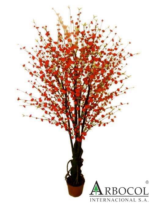 Arbol de durazno flores rojas 17293 683850 mts alto for Arboles altos para jardin