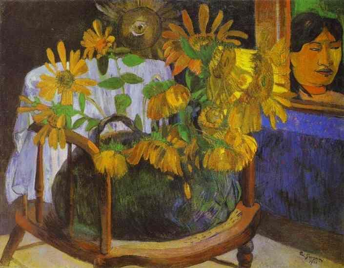 Still Life with Sunflowers on an armchair - Paul Gauguin