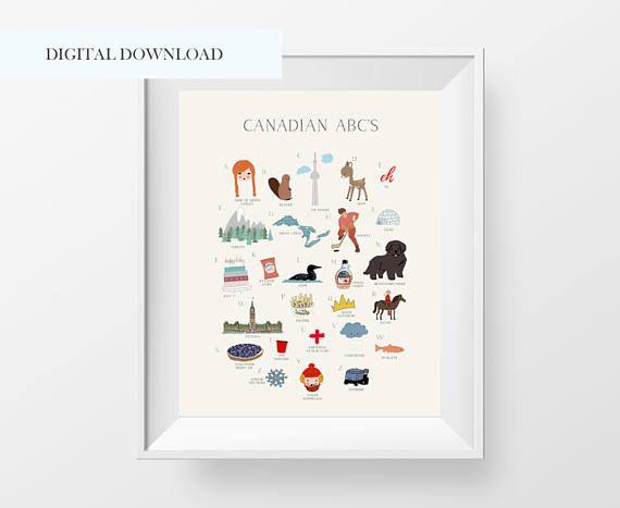 Canada Wall Art Canada Abc Printable Alphabet Wall Art Canada