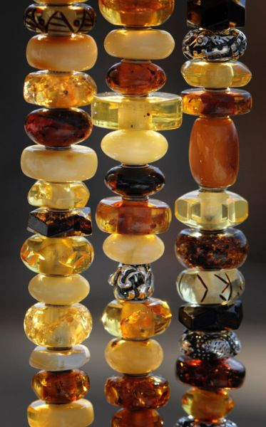 """Amber----2 necklaces by the Lawrence Look still avail @ finds on Broadway in Mpls MN USA.  one is """"honey"""" one is """"cognac""""  2/2/15"""