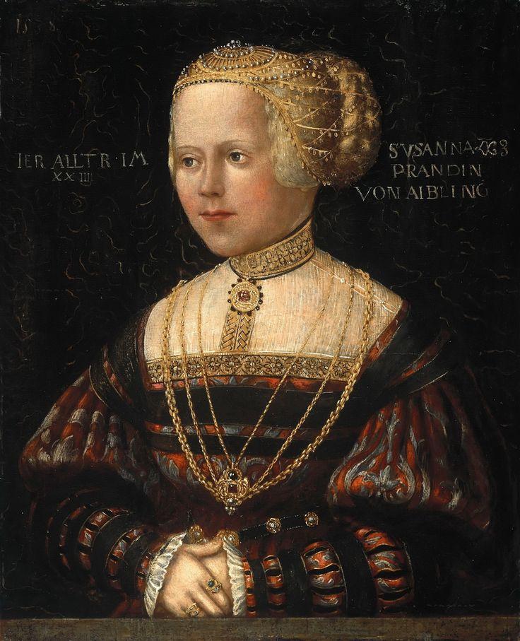 Hans  Schöpfer  the Elder  (1504-1575) —   Susana Prand von Aibling,  1538  (1200×1479)