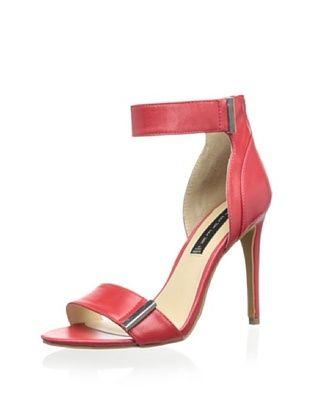 50% OFF STEVEN by Steve Madden Women's Lizete Ankle Strap Sandal (Red Leather)