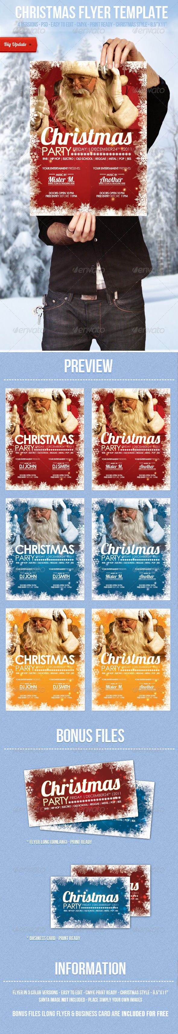 company christmas party invitation templates%0A Christmas  Flyer Template
