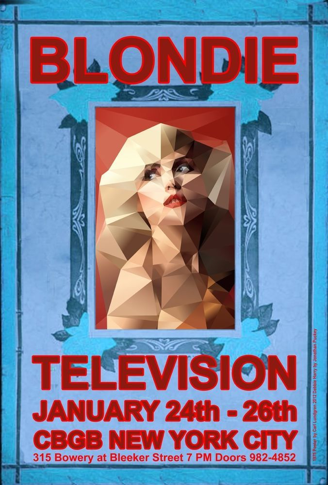 BLONDIE NYC CONCERT TRIBUTE by GRANDE BALLROOM POSTER ARTIST CARL LUNDGREN #Poster
