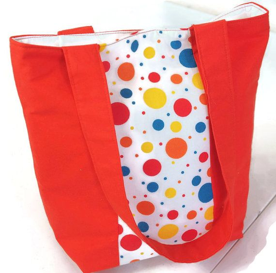 Red Tote Bag   Go Anywhere Tote Bag  Work by BagsAndPursesbyBeth