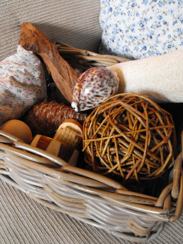 Heuristic play/exploration treasure basket for young children