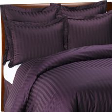 Bedroom (Mine): Winter striped deep purple duvet cover set $99 - Wamsutta 500 Damask Purple Duvet Cover Set, 100% Cotton, 500 Thread Count (Not Egyptian cotton but still good!  A great match for the grey Arctic flannel sheets)