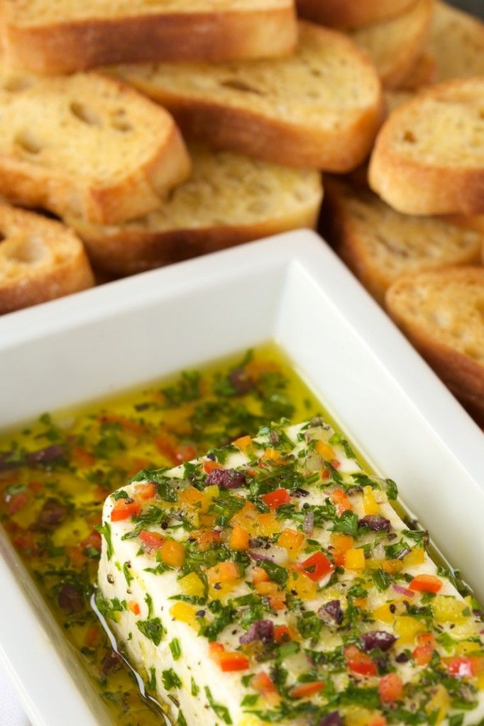 If You Need A Make Ahead Party Food For Your Next Party Consider This Marinated Feta! Its Better The Longer It Sets!