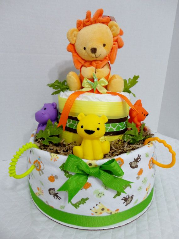 King of the Jungle Diaper cake