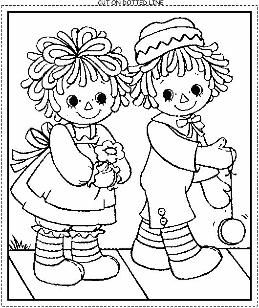 Vintage Raggedy Ann Coloring Pages