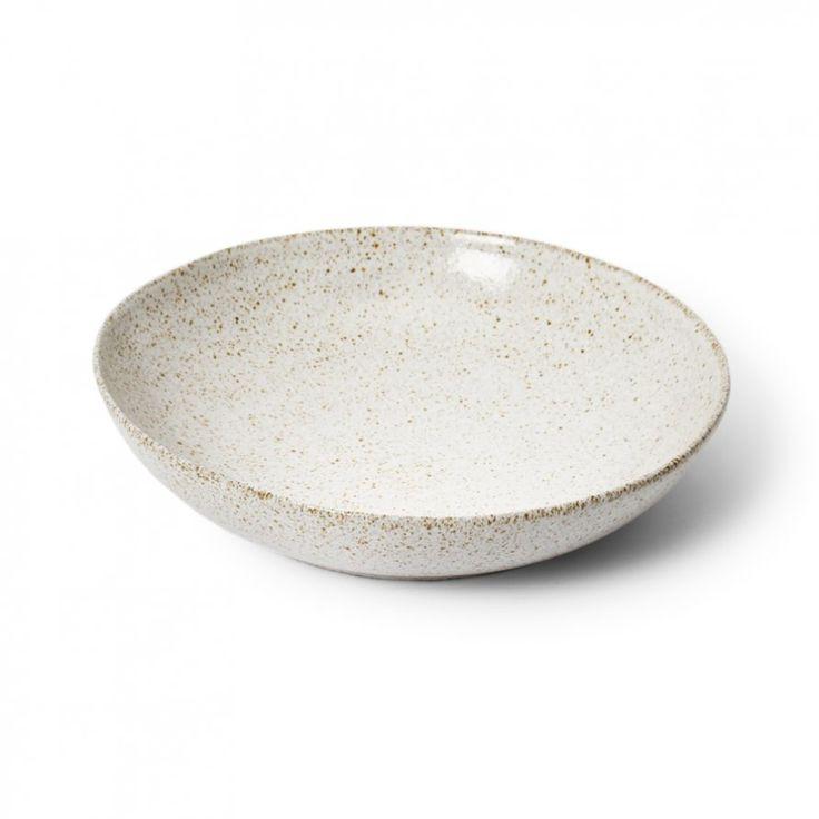 Salad Bowl - White Glaze Large | Lightly