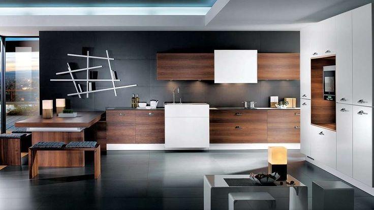 cuisine bois brun moderne