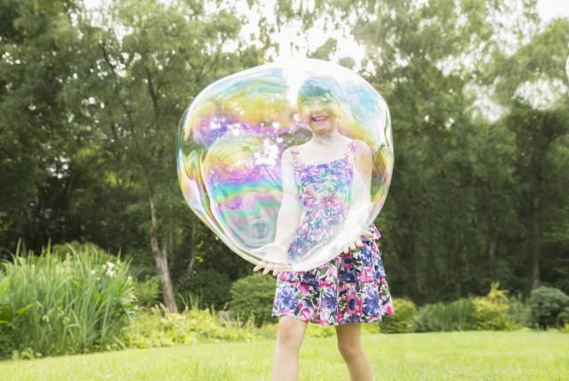 If you're tired of bubbles that pop as soon as you blow them, try this recipe for unbreakable bubbles!