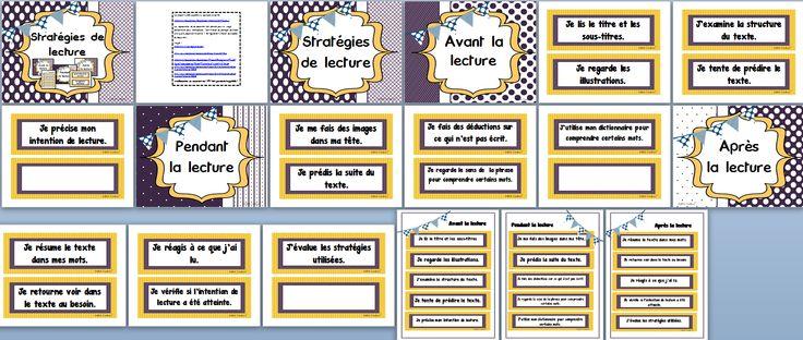 Les stratégies de lecture sont très importantes! Ces affiches vous permettront de les travailler plus facilement en permettant aux élèves de les avoir sous les yeux en tout temps. Parfait pour le retour à l'école.  16 pages $