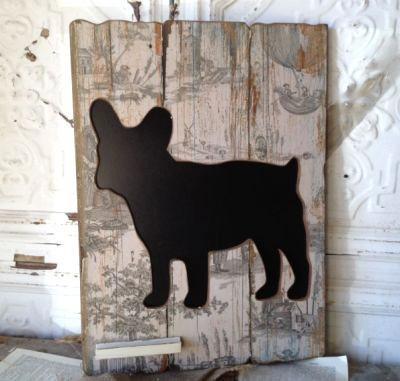 French Bulldog Chalkboard