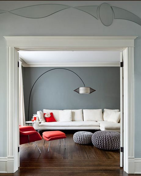 jennifer helgerson grey walls living room white sofa