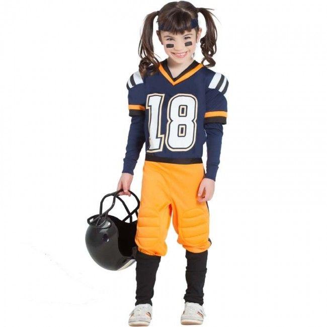 Disfraz De Fútbol Americano Nfl Para Niña Disfraz Futbol Americano Futbol Americano Jugadores De Futbol Americano