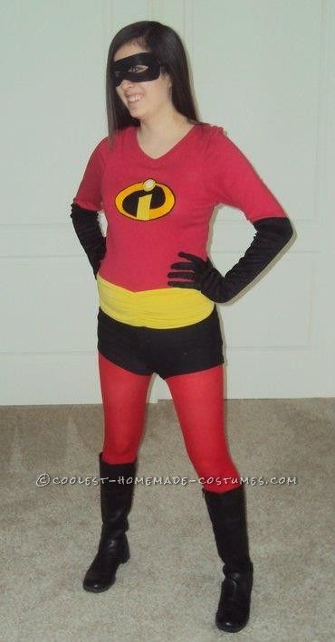 Coolest Homemade Violet From The Incredibles Costume