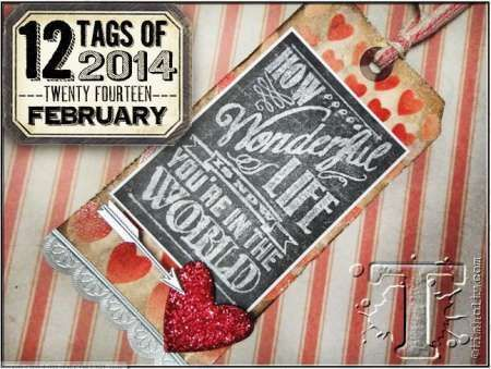 Project: Stamped Tag w/ a Chalkboard Look