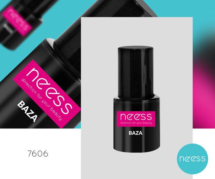 Lakier hybrydowy BAZA NEESS, dzięki  ultra formule zapewnia doskonałą przyczepność produktu do paznokcia. Pojemność 8ml.