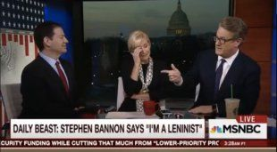 """I'm a Leninist,"" Bannon reportedly said. ""Lenin… wanted to destroy the state, and that's my goal too. I want to bring everything crashing down, and destroy all of today's establishment."" On Monday, President Trump proclaimed himself a ""total nationalist,"" sending Joe Scarborough into a fit of laughter on Tuesday's episode of ""Morning Joe."""