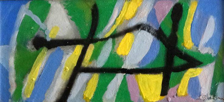 Acrylique sur panneau. Dimension: 24x52 cm www.fondationsolangebertrand.org