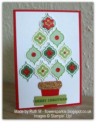 #papercraft #cards Flower Sparkle: Mosaic Madness Quartet Of Cards