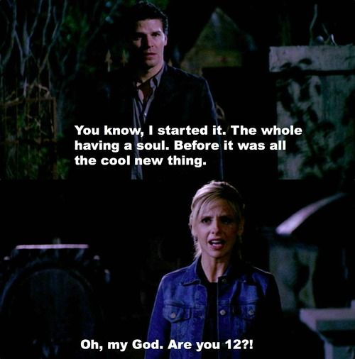 I freaken LOVE Angel! Especially when he developed a sense of humor! XD This scene was so perfect! XDDD
