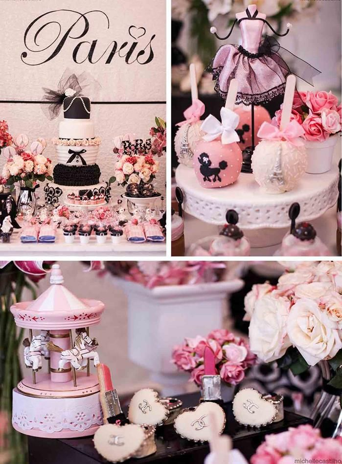 pink a luscious book party ideas | Pink Paris Birthday Party Full of Cute Ideas via Kara's Party Ideas ...