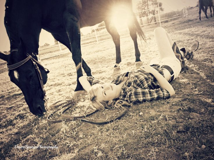 horse & girl photography