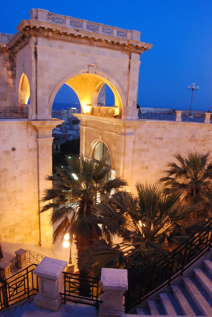 by http://www.bedbreakfast-cagliari.com Bastione Saint Remy, Cagliari, Sardegna-Italy, province of Cagliari .