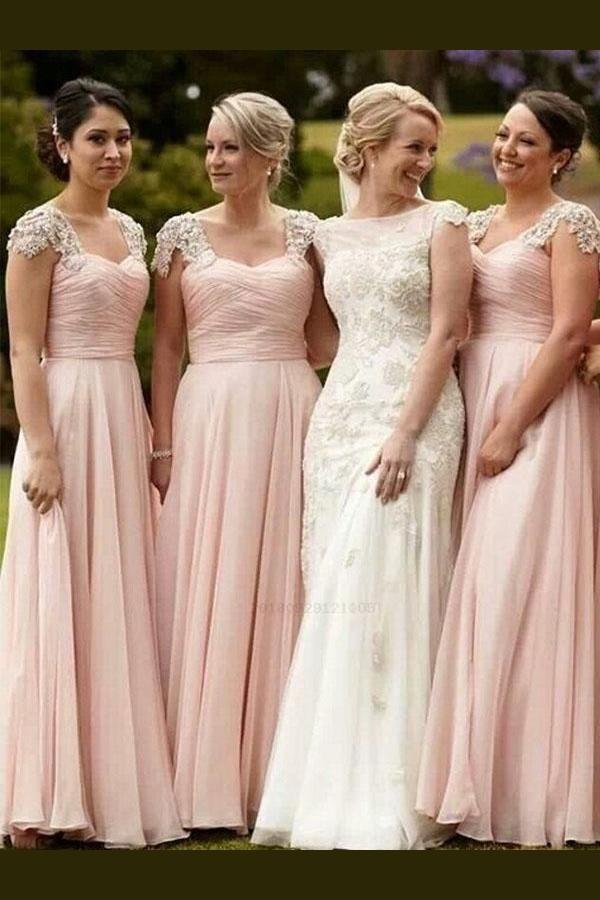 cute pink bridesmaid dresses bridesmaid dresses chiffon blush